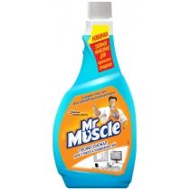 Средство для стекла со спиртом сменный Мистер Мускул 0,5 л