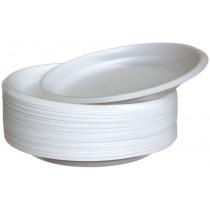 Тарелки одноразовые белые диаметр 20,5 см 100 шт