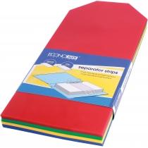 Разделитель листов 240 * 105 мм Economix, пластик, цветной, 100 шт.