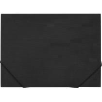 Папка пластиковая для документов A3 на резинке, черная