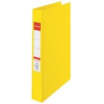 Папка-регистратор Esselte А4, 2 кольца по 25мм, желтая