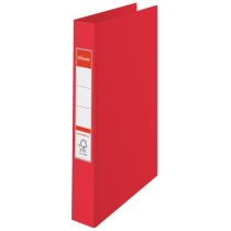 Папка-регистратор Esselte А4, 2 кольца по 25мм, красная