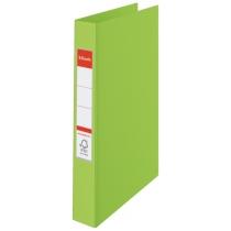 Папка-регистратор Esselte А4, 2 кольца по 25мм, зеленая