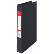 Папка-регистратор Esselte А4, 2 кольца по 25мм, черная