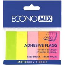Стикеры-закладки Economix, 15х45, бумажные