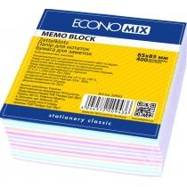 Бумага для заметок Economix, ассорти, 85х85, 400 л.