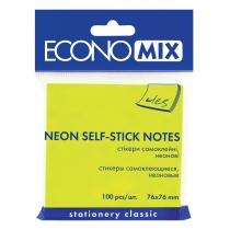 Стикеры Economix, 75х75, зеленые, 100л.