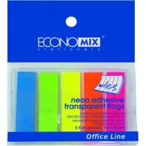 Стікери-закладки Economix, 12х45, пластикові