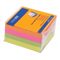 Стикеры Economix, 75х75, 4 цвета, 400л.