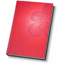 """Щоденник напівдатований, А5, Vivella """"Квітка"""", червоний"""