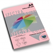 Бумага цветная SINAR SPECTRA, А4, 80 г/м2, 100 л, пастель, розовая