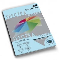 Бумага цветная SINAR SPECTRA, А4, 80 г/м2, 100 л, пастель, светло-голубая
