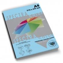 Бумага цветная SINAR SPECTRA, А4, 80 г/м2, 100 л, пастель, голубая