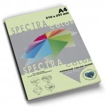 Бумага цветная SINAR SPECTRA А4 80 г/м2, 100 л, пастель, светло-зеленая