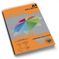 Бумага цветная SINAR SPECTRA, А4, 80 г/м2, 100 л, интенсив, оранжевая