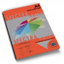 Бумага цветная SINAR SPECTRA, А4, 80 г/м2, 100 л, интенсив, красная