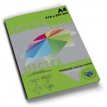 Папір кольоровий SINAR SPECTRA, А4, 80 г/м2, 100 л, інтенсив, зелена