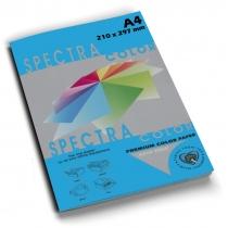 Бумага цветная SINAR SPECTRA, А4, 80 г/м2, 100 л, интенсив, синяя