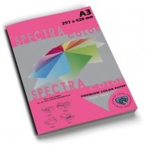 Бумага цветная SINAR SPECTRA, А4, 80 г/м2, 100 л, неон, малиновая