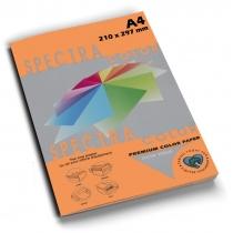 Бумага цветная SINAR SPECTRA, А4, 80 г/м2, 100 л, неон, оранжевая