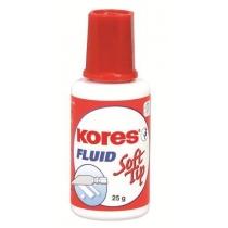 Корректор-жидкость Kores Fluid Soft Tip, химическая основа