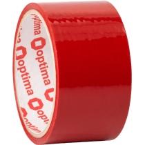 Стрічка клейка пакувальна (скотч) Optima, красная, 48мм*30м