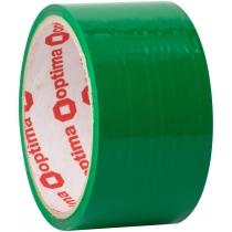 Лента клейкая упаковочная (скотч) Optima, зеленая, 48мм*30м