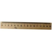 Лінійка дерев'яна, 15 см.
