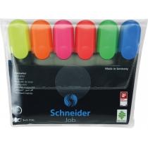 Набор маркеров текстовыделителей SCHNEIDER JOB 1-4,5 мм, 6 цветов в блистере