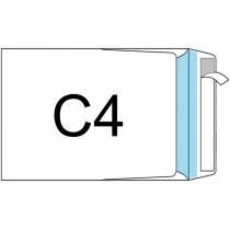 Конверт С4, 100 шт, боковой клапан