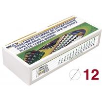 Пружини пластикові для брошурування, 100шт, обжим 75арк, білі, під А4 формат
