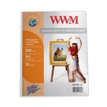 """Фотопапір WWM A4, глянцевий """"тканина"""", 200 г/м2, 10 арк."""