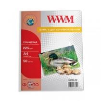 Фотобумага WWM A4, глянцевая, 225 г/м2, 50 л.