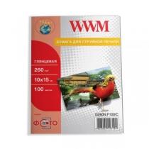Фотобумага WWM 10x15см, глянцевая, 260 г/м2, 100 л.