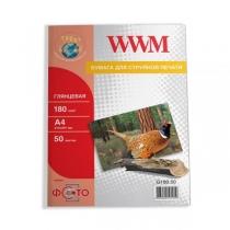 Фотобумага WWM A4, глянцевая, 180 г/м2, 50 л.