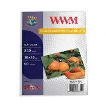 Фотобумага WWM 10x15см, матовая, 230 г/м2, 50 л.