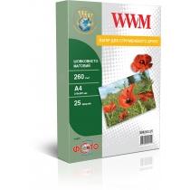 Фотобумага WWM A4, матовая шелковистая, 260 г/м2, 25 л.