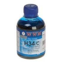 Чернила для HP, H34/С, cyan, VT0550, 200 г.
