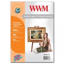 """Фотобумага WWM A4, глянцевая """"жемчужина"""", 200 г/м2, 10 л."""
