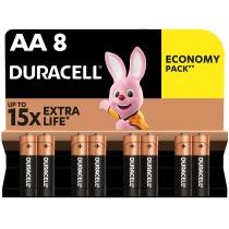 Батарейка DURACELL АА MN1500 8шт. в упаковці