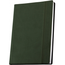 Діловий записник  А5 на гумці, Vivella, зелений