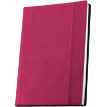 Деловая записная книжка  А5 с резинкой , Vivella, цвет обложки -розовый