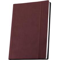 Деловая записная книжка А5 с резинкой, Vivella, цвет обложки - бордо