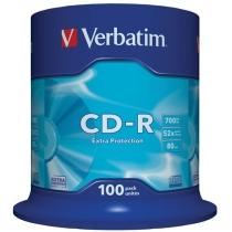 Диск CD-R Verbatim Extra 700 Mb, 100шт, 52x