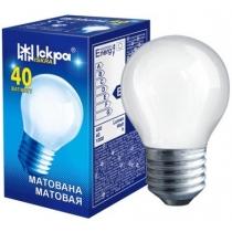 Лампа сфера 40W Е27 PS45 матовая, ИСКРА