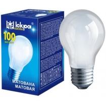 Лампа стандартная 100W E27 А55 матовая, ИСКРА