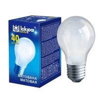 Лампа стандартная 40W Е27 А55 матовая, ИСКРА