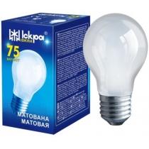 Лампа стандартная 75W Е27 А55 матовая, ИСКРА