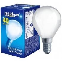 Лампа сфера 40W Е14 PS45 матовая, ИСКРА