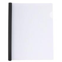 Папка А4 пластиковая с планкой-прижимом 95 л, черная